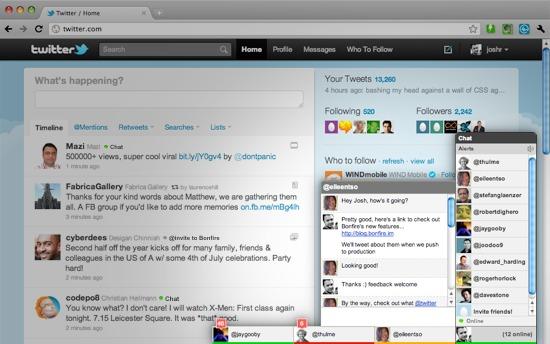 bonfire-extensão chat twitter