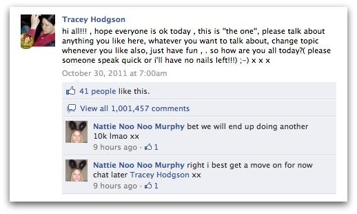 Facebook Um Milhão de comentários em um post