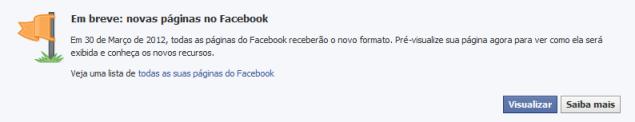 Facebook novas Visualizações