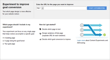 Google Analytics Content Experiments1
