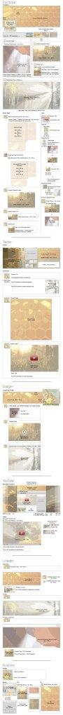 Infográfico com os tamanhos de imagens para o Facebook, Pinterest, Twitter, Youtube, Google+ e Linkedin